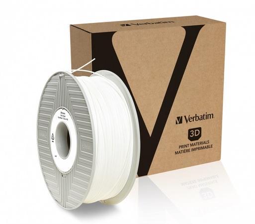 VERBATIM 3D Printer Filament PLA 1,75mm 1kg white, 55315