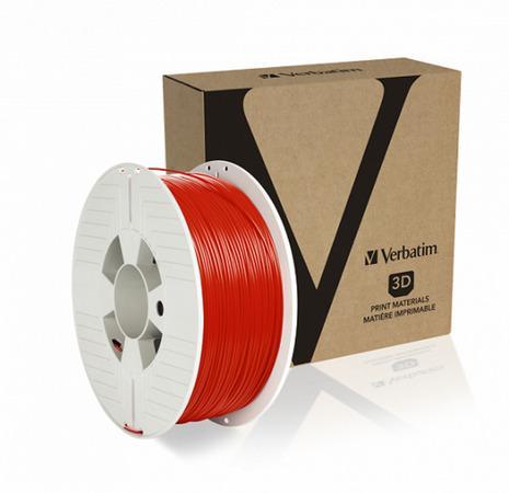 VERBATIM 3D Printer Filament PET-G 1.75mm 1000g red, 55053