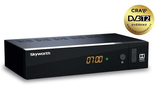 SKW T21FTA DVB-T2 HEVC PŘIJÍMAČ SKYWORTH