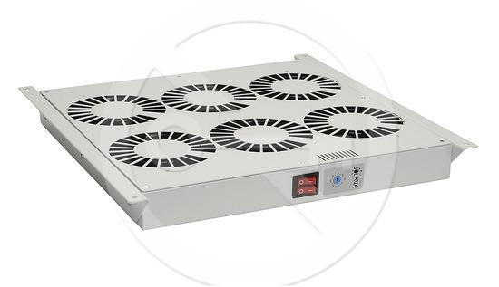 Ventilační jednotka 6 vent.,termostat, do stropu i dna VJ-R6