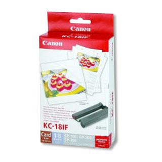 Canon KC18IF nálepka 54x86 18ks do termosublimační tiskárny, 7741A001