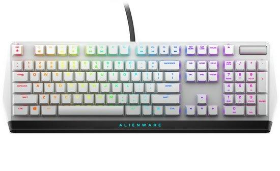Alienware 510K Low-profile RGB Mechanical Gaming Keyboard - AW510K (Lunar Light), 545-BBCH