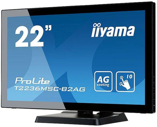 """Dotykový monitor IIYAMA ProLite T2236MSC-B2AG, 21,5"""" AMVA LED, PCAP, 8ms, 215cd/m2, USB, VGA/DVI/HDMI, matný, ZB, černý"""