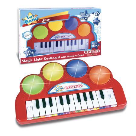Elektronické klávesy se světelnou hudbou