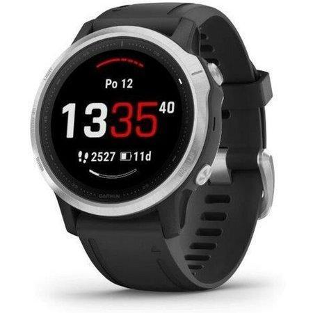 GARMIN GPS chytré hodinky fenix6S Glass Silver/Black Band