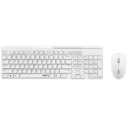 Klávesnice s myší Rapoo X8100, CZ+SK layout - bílá, 18000