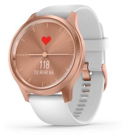 GARMIN stylové/chytré hodinky vivomove3 Style, RoseGold/White Band
