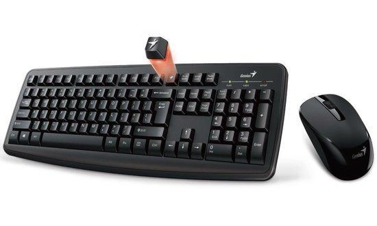 GENIUS klávesnice s myší Smart KM-8100/ Bezdrátový set 2,4GHz mini receiver/ USB/ černá/ CZ+SK layout/ SmartGenius App, 31340004403