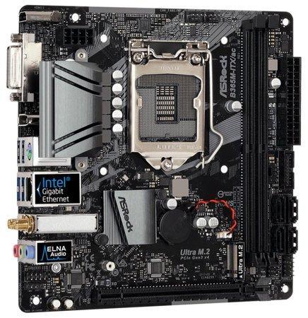 ASRock B365M-ITX/AC / LGA1151 / B365 / 2x DDR4 DIMM / DVI-I / HDMI / DP / M.2 / mini-ITX, B365M-ITX/AC