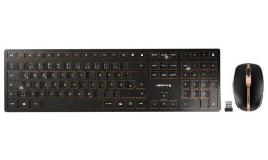 CHERRY set klávesnice + myš DW 9000 SLIM/ bezdrátový/ USB/ černý/ CZ+SK layout