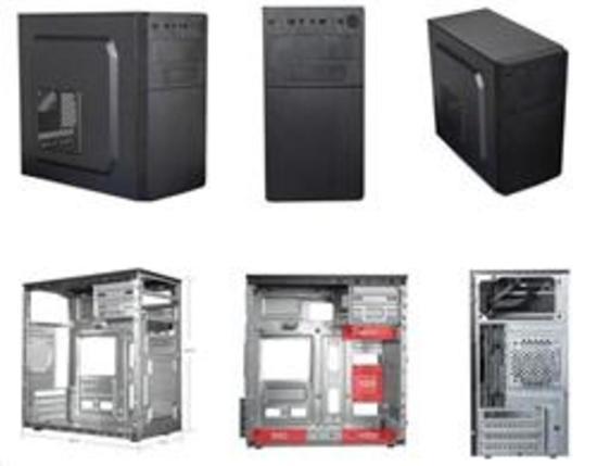 Eurocase MC X204 EVO, skříň mATX, bez zdroje, USB3.0, 2x USB, černá, MCX204-EVO