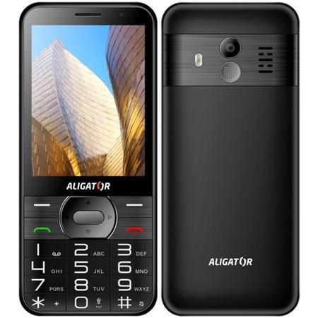 ALIGATOR A900 Senior černý + stolní nabíječka