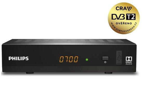 PHILIPS DTR3502BFTA DVB-T2 HEVC PŘIJÍMAČ