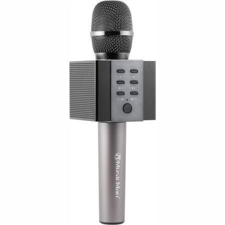 Poenosný reproduktor Technaxx ELEGANCE, karaoke mikrofon, eerný