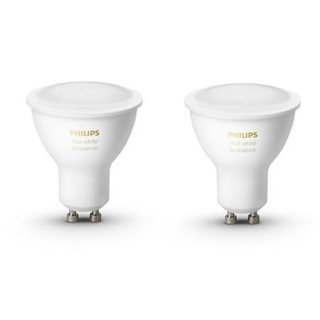 Žárovka LED Philips Hue Bluetooth 5W, GU10, White Ambiance (2ks)