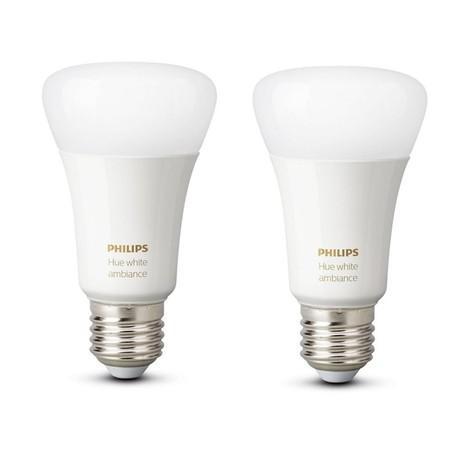 Žárovka LED Philips Hue Bluetooth 9W, E27, White Ambiance (2ks)