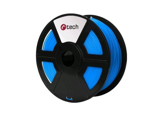 C-TECH tisková struna ( filament ) , PLA, 1,75mm, 1kg, modrá, 3DF-PLA1.75-B
