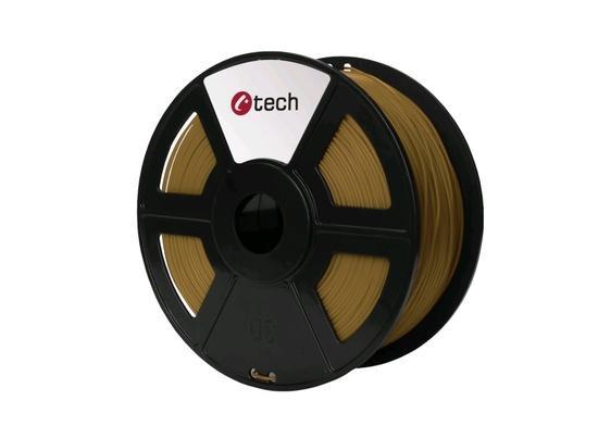 C-TECH tisková struna ( filament ) , PLA, 1,75mm, 1kg, hnědá, 3DF-PLA1.75-BR
