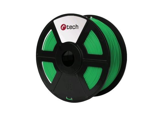 C-TECH tisková struna ( filament ) , PLA, 1,75mm, 1kg, zelená, 3DF-PLA1.75-G