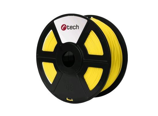 C-TECH tisková struna ( filament ) , PLA, 1,75mm, 1kg, žlutá, 3DF-PLA1.75-Y