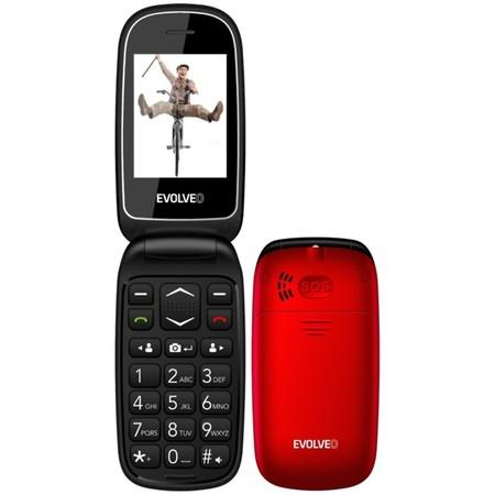 Mobilní telefon Evolveo EasyPhone FD - eervený