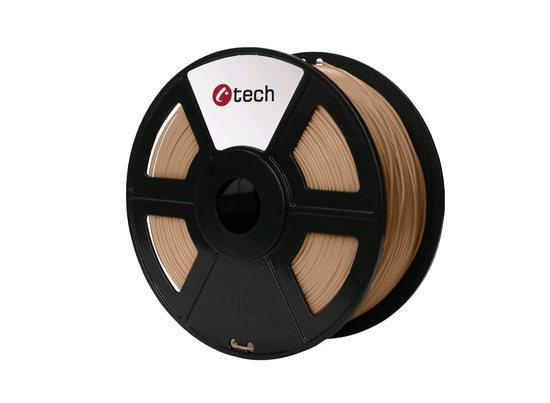 C-TECH tisková struna ( filament ) , PLA, 1,75mm, 1kg, dřevo, 3DF-PLA1.75-WD