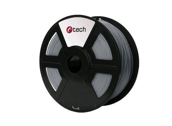 C-TECH tisková struna ( filament ) , PLA, 1,75mm, 1kg, světle šedá, 3DF-PLA1.75-LG