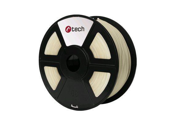 C-TECH tisková struna ( filament ) , PLA, 1,75mm, 1kg, transparentní, 3DF-PLA1.75-CL