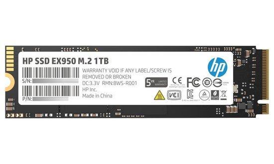 HP SSD EX950 1TB, M.2 PCIe Gen3 x4 NVMe, 3500/2900 MB/s, IOPS 410/370K, 5MS23AA#ABB
