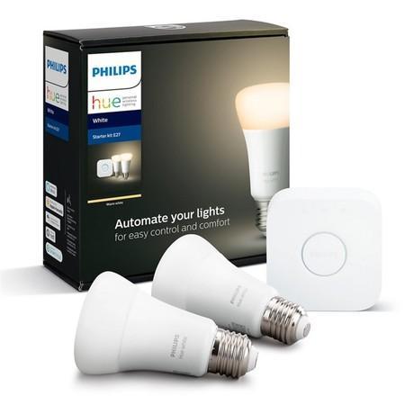 Startovací sada Philips Hue Bluetooth 9W, E27, White (2ks) + Bridge
