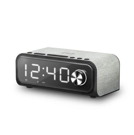 ENERGY Clock Speaker 4 Wireless Charge (Alarm, 10 W, Qi Charger, FM Radio, Bluetooth, USB/microSD MP3), 448692