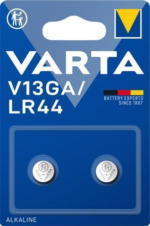 Knoflíková baterie V13GA/LR44/A76, 2 ks, VARTA, bal. 2 ks