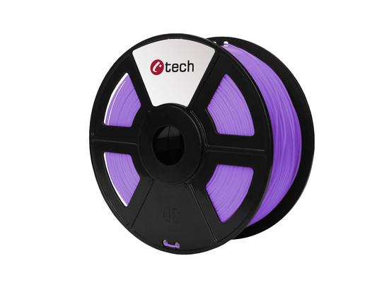 C-TECH tisková struna ( filament ) , PLA, 1,75mm, 1kg, fialová, 3DF-PLA1.75-PR