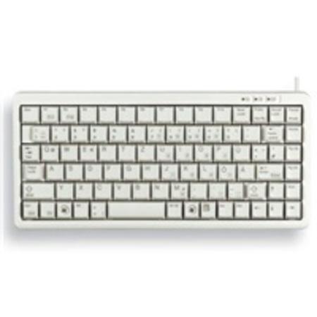 CHERRY klávesnice G84-4100 / lehká / mini/ drátová / USB 2.0 / bílá / EU layout, G84-4100LCMEU-0