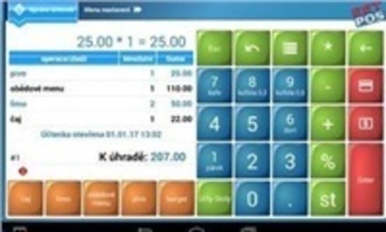 SW prodejní program EET-POS pro Android - plná verze bez poplatků, EET-POS