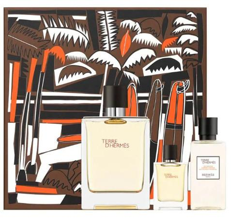 Hermes Terre D´ - EDT 100 ml + sprchový gel 40 ml + EDT 5 ml