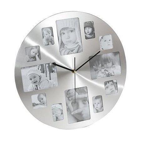 PLATINET nástěnné hodiny MEMORY s fotorámečky