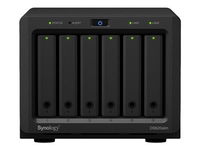 Synology DS620slim DiskStation (2C/CeleronJ3355/2-2,5GHz/2GBRAM/6xSATA/2xUSB3.0/2xGbE), DS620slim