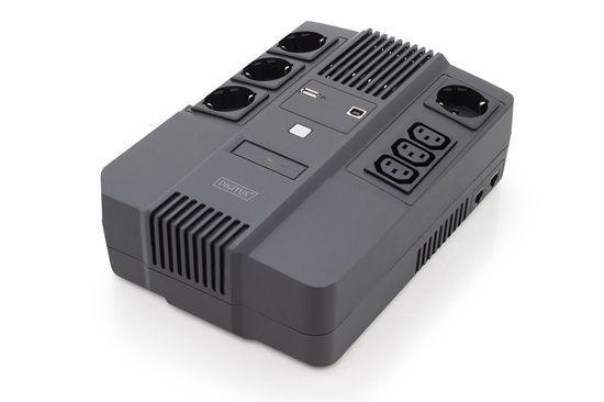 DIGITUS UPS Line-Interactive 600VA/360W AVR 4xSCHUKO 3xIEC C13 1xUSB A/B RJ45, DN-170110