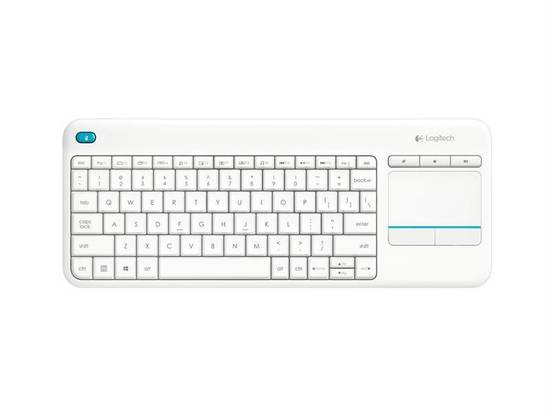 Logitech Wireless Touch Keyboard K400 plus, USB,CZ, bílá, 920-007152
