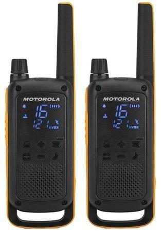Motorola vysílačka TLKR T82 Extreme RSM Pack (2 ks, dosah až 10 km), IPx4, černo/žlutá