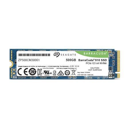 Seagate SSD BarraCuda 510 (M.2 2280/500 GB/ PCIe Gen3 x4, NVMe), ZP500CM3A001