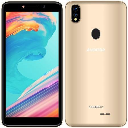 Mobilní telefon Aligator S5540 Duo - zlatý