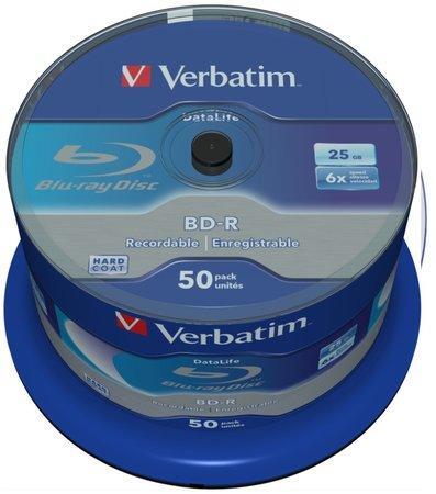 VERBATIM BD-R SL (6x, 25GB),NON-ID, 50 cake, 43838
