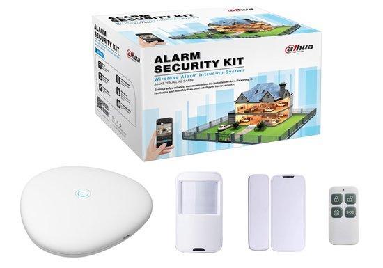 DAHUA KIT alarm bezdrátová ústředna + 1x PIR čidlo + 1x dveřní čidlo + 1x dálkové ovládání/ mobilní CZ aplikace