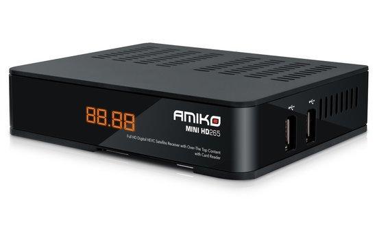 AMIKO DVB-S2 přijímač Mini HD265 HEVC CX LAN
