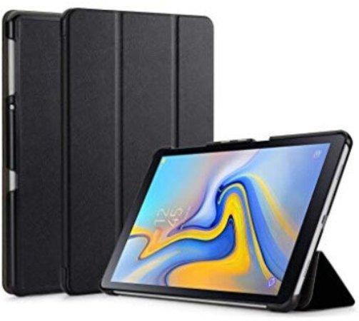 Tactical Book Tri Fold Pouzdro pro Samsung T590 Galaxy TAB A 10.5 Black