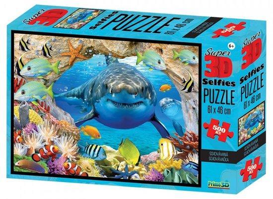 PRIME 3D Puzzle Schovávaná se žralokem 3D 500 dílků