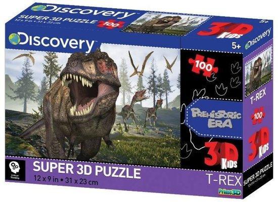 PRIME 3D Puzzle T-Rex 3D 100 dílků
