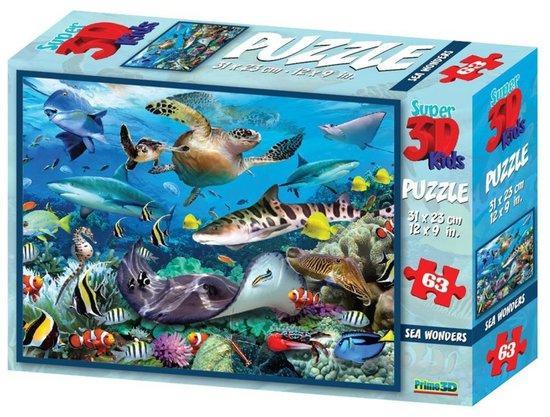 PRIME 3D Puzzle podvodní svět 3D 63 dílků